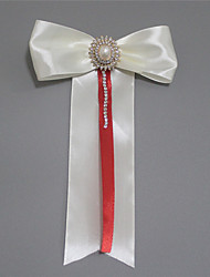 cheap -Wedding Flowers Boutonnieres Wedding / Wedding Party Grosgrain / Bead 11-20 cm