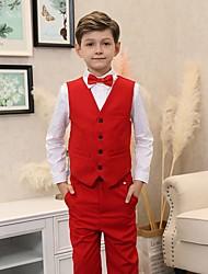 cheap -Kids Boys' Basic Solid Colored Long Sleeve Regular Regular Cotton Suit & Blazer Red