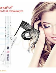 cheap -Black Mascara Natural 3D Fiber Waterproof Long Rolling Brush Head Top Eyelash Lasting Eye Makeup