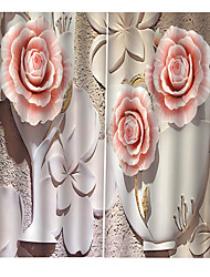 cheap -Lovely Roses Printed Home Goods Heat Insulation Blackout 100% Polyester Curtain Fabric Drapes Office/Living Room