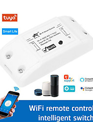 cheap -WiFi On / Off / Tuya Smart Life / Timed Wireless Remote Control Switch For Phone / Voice APP Control / Tuya APP WIFI 10A Smart Switch