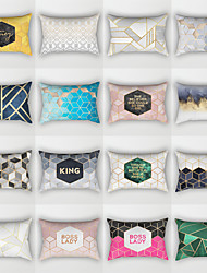 cheap -1 pcs Polyester Pillow Cover, Geometic Fashion Rectangular Traditional Classic