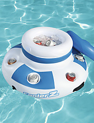 cheap -Inflatable Floating Cooler Portable Foldable Multi-function for 3 - 4 person Plastic Outdoor Beach Camping Water Sports 66*46cm Blue / White