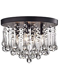 cheap -Crystal Ceiling Lamp Modern Simple Chandeliers Flush Mount Mini Pendant Light 4 Lights Hallway Ceiling Pendant Lighting Fixtures Round Black