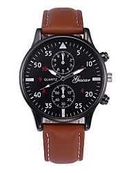 cheap -Dress Watch Leather Analog Black Brown black Black / Silver / Stainless Steel