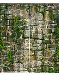 abordables -rideaux imprimés en briques de pierre de forte solidité épaississement imperméable à l'eau 100% polyester tissu rideau de salle de bains