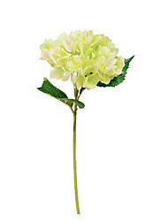 cheap -1 Branch Artificial Hydrangea Flowers for Wedding Home Vase Decoration
