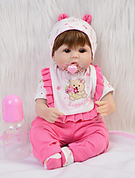cheap -FeelWind 16 inch Reborn Doll Baby Girl Gift Kids / Teen Adorable Cloth 3/4 Silicone Limbs and Cotton Filled Body with Clothes and Accessories for Girls' Birthday and Festival Gifts