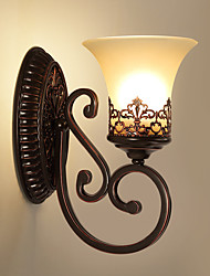 cheap -American Restore Ancient Ways Single Head Wall Lamp Bedroom Bedside Balcony Corridor Mirror Headlight Living Room Tie Yi Lamps