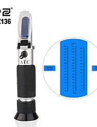 cheap -RZ Refractometer Fruit Wine Meter Sugar Portable Auto Brix 0~32% Alcohol 0~26% Fruit Juice Wine Sugar Meter Refractometer RZ136