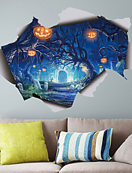 cheap -Horrible Halloween Wall Stickers - Animal Wall Stickers Animals / Landscape Study Room / Office / Dining Room / Kitchen