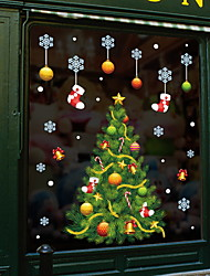 cheap -Christmas Tree Window Film &amp Stickers Decoration Animal / Patterned Holiday / Character / Geometric PVC(PolyVinyl Chloride) Window Sticker