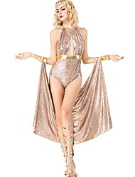 cheap -Cleopatra Costume Women's Fairytale Theme Halloween Performance Cosplay Costumes Theme Party Costumes Women's Dance Costumes Terylene Split Joint