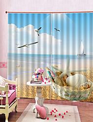 Недорогие -Горячие продажи красивые шторы сильная прочность толстые водонепроницаемые полиэфирные шторы для ванной комнаты / гостиная тепло / звукоизоляция плотные шторы ткань