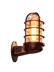 cheap -Antique Iron Corridor Wall Sconces American Industrial Cages Wall Lamp Wall Light for Stairs Restroom Bronze