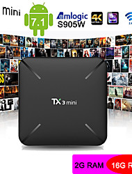 cheap -TX3 mini   Android 7.1 Amlogic S905W HDMI 2.0 Smart TV Box 2GB DDR3 RAM 16GB ROM Support 4K H.265 Youtube Flicker Player