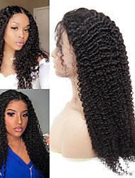 cheap -Human Hair Wig Medium Length Curly Side Part Party Women Best Quality Lace Front Brazilian Hair Women's Black#1B 8 inch 10 inch 12 inch