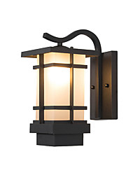 cheap -Wall Lantern Black Minimalist Wall Sconces Antique Countryside Wall Lamp Glass Shade Outdoor Waterproof Wall Light Fixtures for Garden