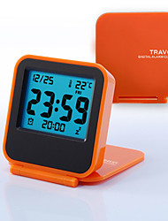 cheap -Mini Portable Travel Clamshell Electronic Night Lamp LED Digital Desk Alarm Clock