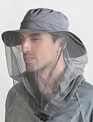 cheap -Outdoor 360 Mosquito-proof Hat Fishing Umbrella Hat Sun Protection with Mosquit Net for Men Women Hiking Camping Caps Breathable