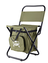 cheap -Camping Chair Built-in Cooler with Side Pocket Portable Anti-Slip Foldable Comfortable Steel Tube Oxford for 1 person Camping Camping / Hiking / Caving Traveling Picnic Autumn / Fall Spring Army Green