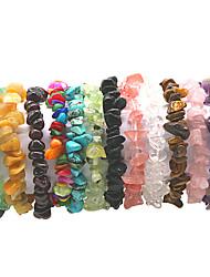cheap -Women's Bracelet Handmade Link Bracelet Classic Happy Simple Bohemian Natural Cute Stone Bracelet Jewelry Pink / Dark Red / Turquoise For Gift Street