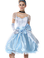 cheap -Princess Costume Women's Fairytale Theme Halloween Performance Cosplay Costumes Theme Party Costumes Women's Dance Costumes Polyester Bowknot