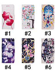 cheap -Case For Motorola MOTOOnePower / MOTO 30Note / MOTOOne Wallet / Card Holder / with Stand Full Body Cases Butterfly / Tree / Flower Hard PU Leather