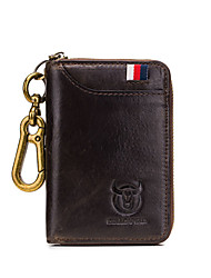 cheap -(BULLCAPTAIN) Car Key Bag Leather Men'S Business Universal Door Lock Bag Soft Leather Multi-Card Convenient Coin Purse