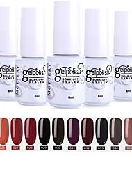 cheap -Nail Polish 12 Pcs color 25-36 xyp  Mottled Soak-Off UV/LED Gel Nail Polish Solid Color Nail Lacquer Sets