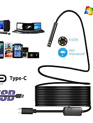 cheap -HD industrial endoscope TYPE C Android endoscope Waterproof mobile phone endoscope Air conditioning duct cord 1 m