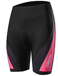 cheap -21Grams Women's Cycling Padded Shorts Bike Pants Bottoms Breathable Quick Dry Sports Solid Color Black / Pink Mountain Bike MTB Road Bike Cycling Clothing Apparel Bike Wear / Stretchy