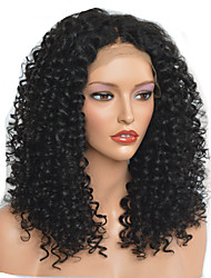 cheap -Synthetic Wig Afro Curly Layered Haircut Wig Medium Length Natural Black Synthetic Hair 40~44 inch Women's New Arrival Black