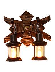 abordables -Applique murale rustique luminaire mural en bois rétro vintage / rustique / lodge applique murale luminaires muraux magasins / cafés / salle d'étude / bureau / bar