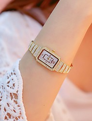 cheap -Women's Quartz Watches Fashion Elegant Silver Gold Stainless Steel Japanese Quartz Gold Silver New Design Casual Watch Imitation Diamond 1 pc Analog Two Years Battery Life