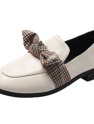 cheap -Women's Loafers & Slip-Ons Flat Heel Bowknot PU Casual Summer Black / Brown / Beige / Daily