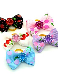 cheap -Dogs Ornaments Hair Accessories For Dog / Cat Bowknot Decoration Geometric Fruit Metalic Polyester Rubber Rainbow