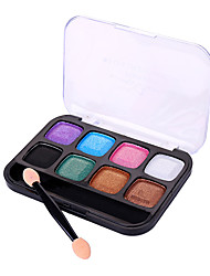 cheap -8 Colors Eyeshadow Eyeshadow Palette Adult Daily EyeShadow Lidded Portable Carrying Single Open Lid Women Portable Tool Case Casual / Daily Daily Makeup Cosmetic Gift