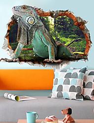 cheap -3D Removable Lizard Pattern Wall Sticker Poster Wallpaper Decor Decal for Kids Room Door Glass Window