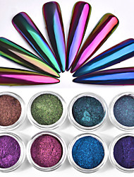 cheap -1 Box 0.3g Chameleon Mirror Nail Glitters Powder DIY Nail Chrome Pigment Dust Manicure Nail Art Decoration Tools