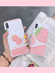 cheap -Case For Apple iPhone XR / iPhone XS Max Pattern Back Cover Food Soft TPU for iPhone 6 / iPhone 6 Plus / iPhone 6s