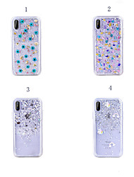 Недорогие -Кейс для Назначение Apple iPhone XS / iPhone XR / iPhone XS Max Защита от удара Кейс на заднюю панель Цвет неба / Цветы Мягкий ТПУ