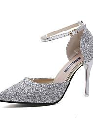 cheap -Women's Heels Stiletto Heel Pointed Toe PU(Polyurethane) Summer Gold / Silver / Party & Evening