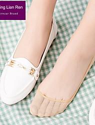 abordables -2 paires Femme Chaussettes Standard Couleur Pleine Leg Shaping Style Mignon Coton EU36-EU46