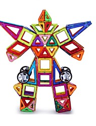 Недорогие -Магнитные плитки 109 pcs Геометрический узор 3D в мультяшном стиле Взаимодействие родителей и детей Все Игрушки Подарок