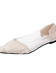 cheap -Women's Flats Flat Heel Synthetics Spring &  Fall Black / Red / Beige