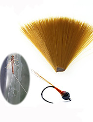 cheap -1pc Fine Diameter Brown Nylon Tapered Floating Fly Tying Mayfly Tail Fiber Perdigon Nymph Tails Fly Tying Material