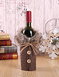 cheap -Wine Bottle Cover Champagne Bottle Bag with Bowknot for Christmas Hotel Restaurant Decoration Storage Bag