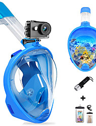 cheap -Diving Package - Waterproof Bag Diving Mask Diving Flashlight - Anti Fog Dry Top Swimming Diving Snorkeling Silicon  For  Adults
