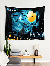 cheap -Halloween Classic Theme / Fairytale Theme Wall Decor 100% Polyester Modern / New Year's Wall Art, Wall Tapestries Decoration